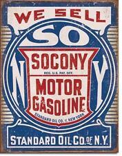 Socony Gasoline USA Tankstellen Metall Werbung Schild im Vintage Design