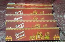 LOT x6 Mysore Sandal SANDALWOOD Incense SIX boxes of 20 Sticks Free Shipping USA