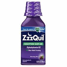 ZzzQuil Nighttime Sleep-Aid Liquid Warming Berry Flavor 12 oz Each