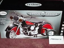 TESTORS CLASSIC INDIAN MOTORCYCLE ASSEMBLY KIT 1/6 SCALE OVER 15 INCHES LONG