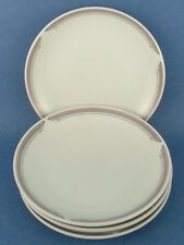 4 Noritake United Airlines PL021 Small Bread Plates White Pink WOW!