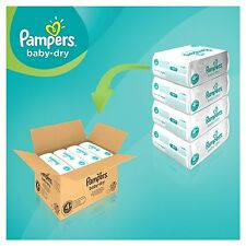 Pampers Baby Dry Size 4 Maxi Monthly Pack - 174 Nappies, Fast Free Shipping,