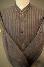 WAH Maker Banded Collar Gray Pattern True West Scully Western Cowboy WahMaker XL