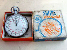SMITHS STOPWATCH vintage mechanical with box and documents