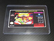 Battletoads in battlemniacs Snes Cartridge Replacement Game Label Sticker Precut