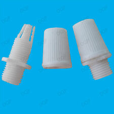 3x White M10 Thread Cable Wire Cord Grip For Pendant Light Sockets, Lamp Fitting