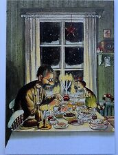 PETTSON & FINDUS at CHRISTMAS  Postcard by Sven Nordqvist Sweden  FREE SHIPPING