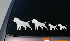 "PIT BULL FAMILY 8.5"" STICKER DECAL VINYL CAR AMERICAN BULLY APBT AMSTAFF *D626*"