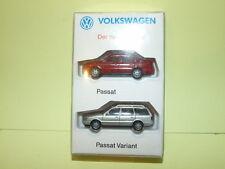 VW PASSAT B3 Rouge et PASSAT Break Gris WIKING 1/87 ho