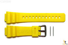 16mm Fits CASIO DW-6900 G-Shock  Yellow Rubber Watch BAND DW-6600 w/ 2 Pins