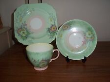 Antique Cup, Saucer, Plate trio by Old royal china (England) mint floral pattern