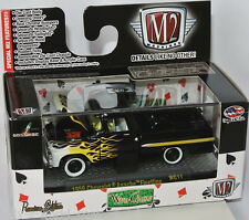 M2 machines wild cards - 1959 Chevy Apache Fleetline-Black/Flames - 1:64 wc11