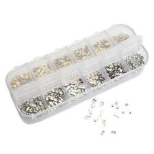 3D Nail Art Tips Gems Metal Glitter Rhinestone Gold Silver DIY Decoration Box US
