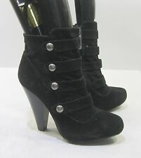 "BLACKS 4.5""block HIGH heel 1"" PLATFORM round toe sexy ankle boot Size 10"