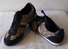 NEW Coach Kelson Outline Womens Fashion Sneakers 9 Khaki/Midnight Navy MSRP$80