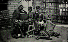 1912 Madras India Family Of Famine Sufferers Photogravure Photograph