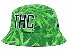 "DGK DIRTY GHETTO KIDS ""THC"" CANNABIS WEED GREEN SIZE L/XL BUCKET HAT CAP NEW NWT"