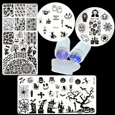 6pcs/set Born Pretty Halloween Nail Art Stamping Plates & Stamper Scraper Kit