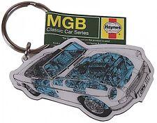 MGB Roadster Haynes cutaway Metal Keyring    (hb)