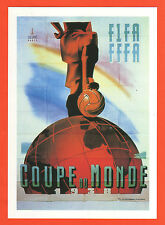 poster card   World Cup FRANCE 1938 / Official Logo + all dates (15 x 21 cm)  !!