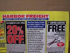20% OFF HARBOR FREIGHT COUPON ~ USE AT LOWE'S OR HOME DEPOT Exp 05/2017