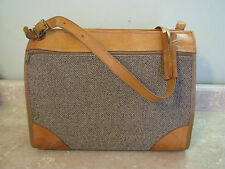 "HARTMANN Carry-On VTG TWEED & LEATHER SUITCASE Luggage OVERNIGHT BAG 17""Size"