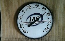 """IAS""INNOVATIVE AG SERVICES;PLASTIC INDOOR/OUTDOOR ADVERTISNG THERMOMETER"