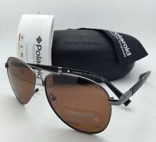 New POLAROID Sunglasses POLARIZED PLD 2000/S KJ1 Gunmetal & Black w/Brown Lenses