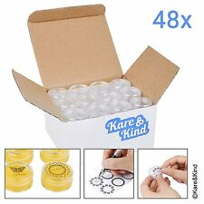 Kare & Kind 48 packs DIY Natural Empty Lip Balm Container pot jars, Cosmetic Cap