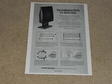 Dahlquist DQ-10 Speaker Ad 1 page, 1978, Article, Info