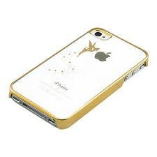 kwmobile CRYSTAL HARD CASE FÜR APPLE IPHONE 4 4S FEE GOLD COVER SCHUTZ HÜLLE
