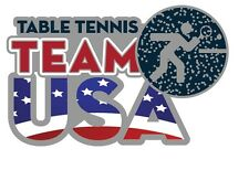 2016 Rio USA Olympic Table Tennis Team Glitter Pictogram NOC Sports Pin