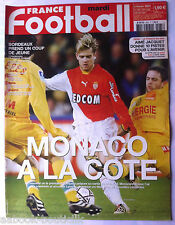 FRANCE FOOTBALL 4/02/2003; Monaco/ Bordeaux/ Aimé Jacquet/ Kadhafi Italie
