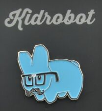 Kidrobot Pinning And Winning 2-Inch Collectible Pin - Blue Glasses Labbit