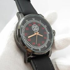 "SIG SAUER,Massive Military Dial,Leather 8.5"" Band BIG MANS WATCH,1731,L@@K!"