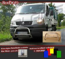 RENAULT MASCOTT 04-10 LOW BULL BAR WITHOUT AXLE BARS +GRATIS! STAINLESS STEEL!