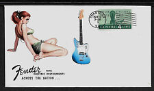 1962 Fender Jaguar & Pin Up Girl Featured on Collector's Envelope *A407