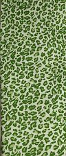 Baekgaard Silk Tie Vera Bradley Animal Motif Bright Green NIB Leopard Cheetah