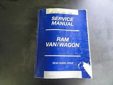 DaimlerChrysler Corporation 2002 Ram Van/Wagon Service Manual
