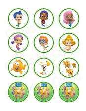 Bubble Guppies edible party cupcake toppers decoration