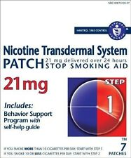 2017 EXPIRY, NICOTINE TRANSDERMAL SYSTEM, STEP 1 (07) patches @ 21mg (Listing A)