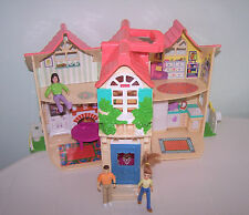 Fisher Price Sweet Streets Country Cottage Pink Coral Roof People