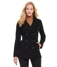 New Womens Anne Klein Wool Blend Black Coat Peacoat Plus Size 2X/3X