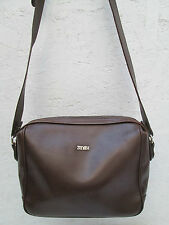 AUTHENTIQUE sac à main style sacoche cuir ZENITH  TBEG  bag vintage à saisir