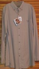 FIELD AND STREAM MEN'S SHIRT LONG SLEEVES XLT BEIGE BUTTON FRONT