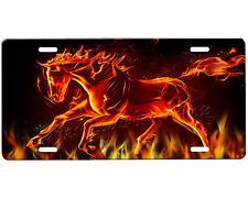 Flaming Horse License Plate