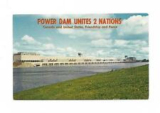 Moses -Saunders Power Dam Unites 2 Nations New York Canada St Lawrence Valley PC