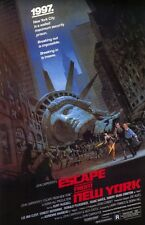 """ESCAPE FROM NEW YORK Movie Poster [Licensed-NEW-USA] 27x40"""" Theater Size"""
