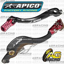 Apico Black Red Rear Brake & Gear Pedal Lever For Honda CRF 250R 2010-2016 MotoX