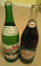 OLD PEP UP & SIEMON'S WILKES-BARRE PA BEVERAGE SODA POP BOTTLES 32 OZ QUART W-B